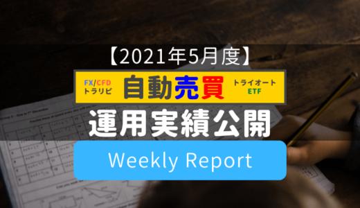 【自動売買まとめ】運用実績公開!(週次集計)【2021年5月度】